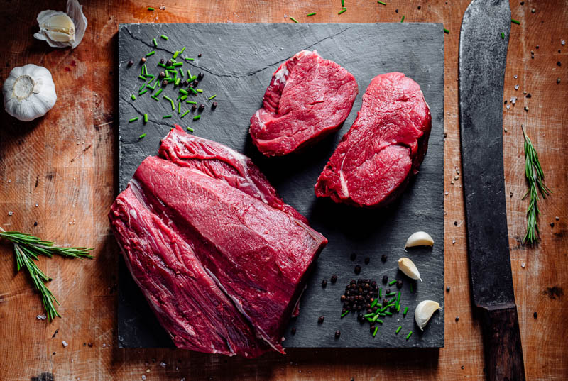 raw meat butchers photography South Wales